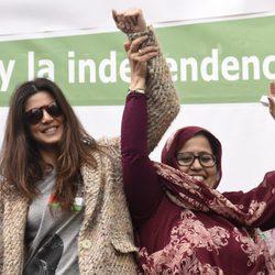Clara Lago manifestándose en Madrid