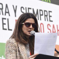 Clara Lago apoyando al Sáhara en Madrid