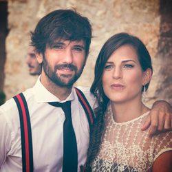 David Otero junto a su mujer Marina en su renovación de los votos