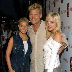 Joe Simpson, Jessica Simpson y Ashlee Simpson en la apertura de Levi´s