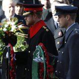 El Príncipe Guillermo y el Príncipe Harry en el Día del Recuerdo 2016