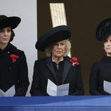Kate Middleton, Camilla Parker Bowles y Sophie Rhys Jones en el Día del Recuerdo 2016