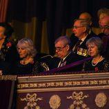 La Princesa Ana, el Príncipe Carlos, Camilla Parker y el Duque de York en el Festival del Recuerdo 2016