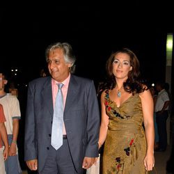Raquel Bollo y Chiquetete en la presentación de un local