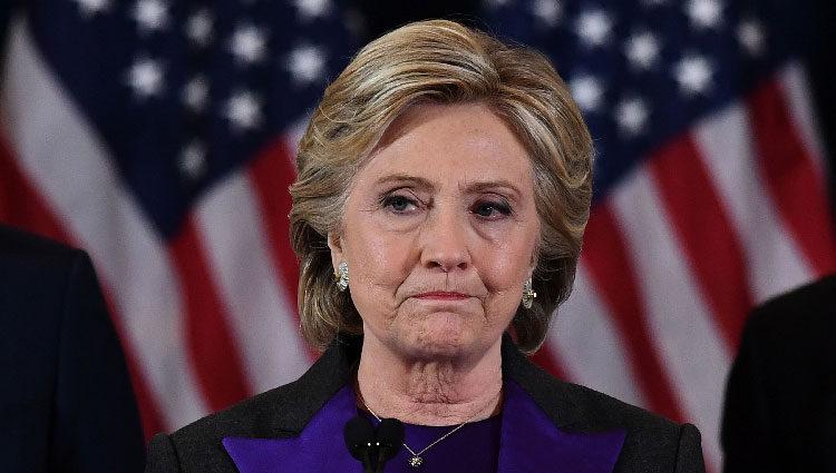 Hillary Clinton tras su derrota electoral