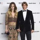 Carlos Baute y Astrid Klisans en la entrega de los Prix de la Moda 2016