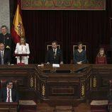 Ana Pastor ofrece un discurso ante los Reyes Felipe y Letizia y sus hijas en la Apertura de la XII Legislatura