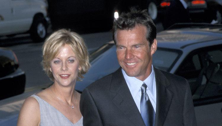 Meg Ryan y Dennis Quaid cuando estuvieron juntos