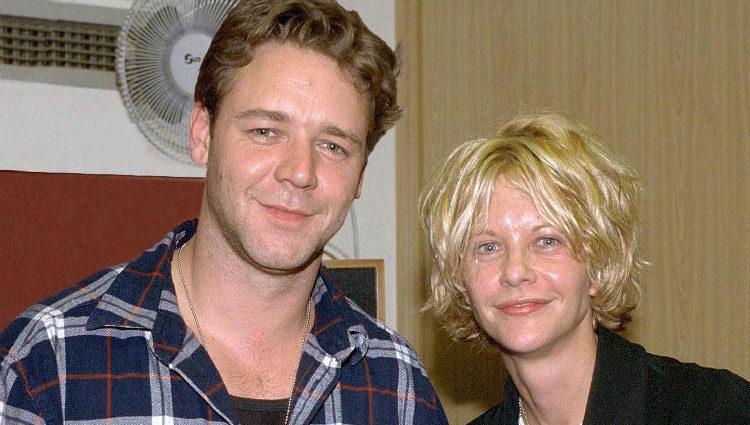 Meg Ryan y Russell Crowe cuando empezaron a salir