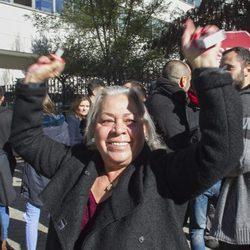 Carmen Gahona en las puertas de los Juzgados de lo Penal de Madrid