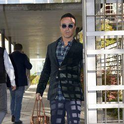 Luis Rollán saliendo de los juzgados de lo Penal de Madrid