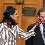 Tatiana Santo Domingo acaricia a Andrea Casiraghi en el Día Nacional de Mónaco 2016