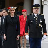 Alberto y Charlene de Mónaco en el Día Nacional de Mónaco 2016
