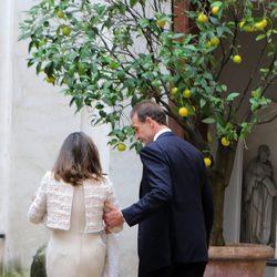 Alessandro Lequio y María Palacios en el bautizo de su hija