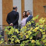 Ana Rosa Quintana y Juan Muñoz en el bautizo de Ginevra Ena