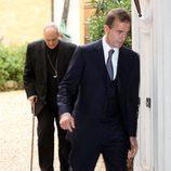Alessandro Lequio en el bautizo de su hija