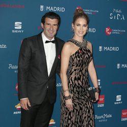Luis Figo y Helen Svedin en la Gala Sida 2016