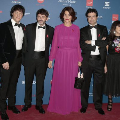 Jordi Cruz, Pepe Rodríguez, Samantha Vallejo-Nágera, Fernando Tejero y Loles León en la Gala Sida 2016