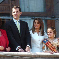 Rita Barberá con los Reyes Felipe y Letizia y Francisco Camps