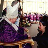 Rita Barberá con el Papa Juan Pablo II en El Vaticano