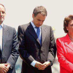 Francisco Camps, José Luis Rodríguez Zapatero y Rita Barberá