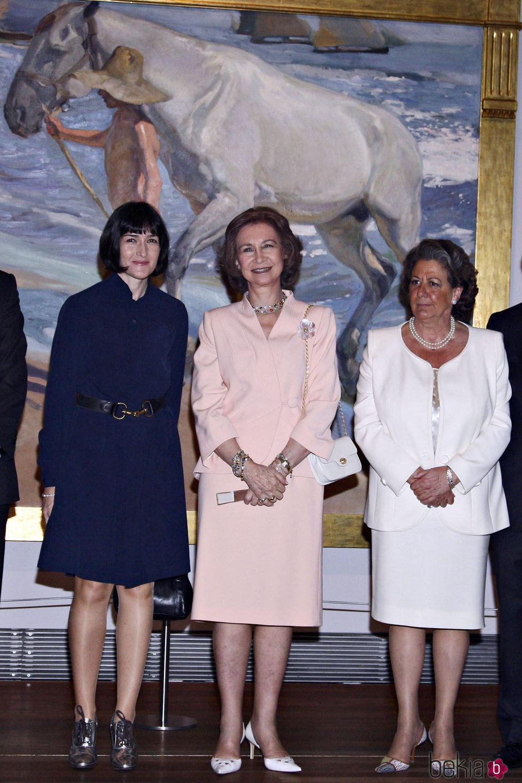 Ángeles González Sinde, la Reina Sofía y Rita Barberá