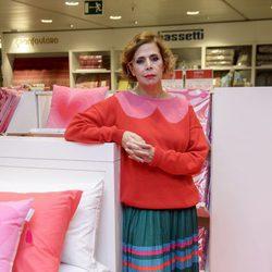 Ágatha Ruiz de la Prada presentando su colección de moda tras divorciarse de Pedro J. Ramírez