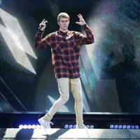 Justin Bieber en su concierto en Madrid