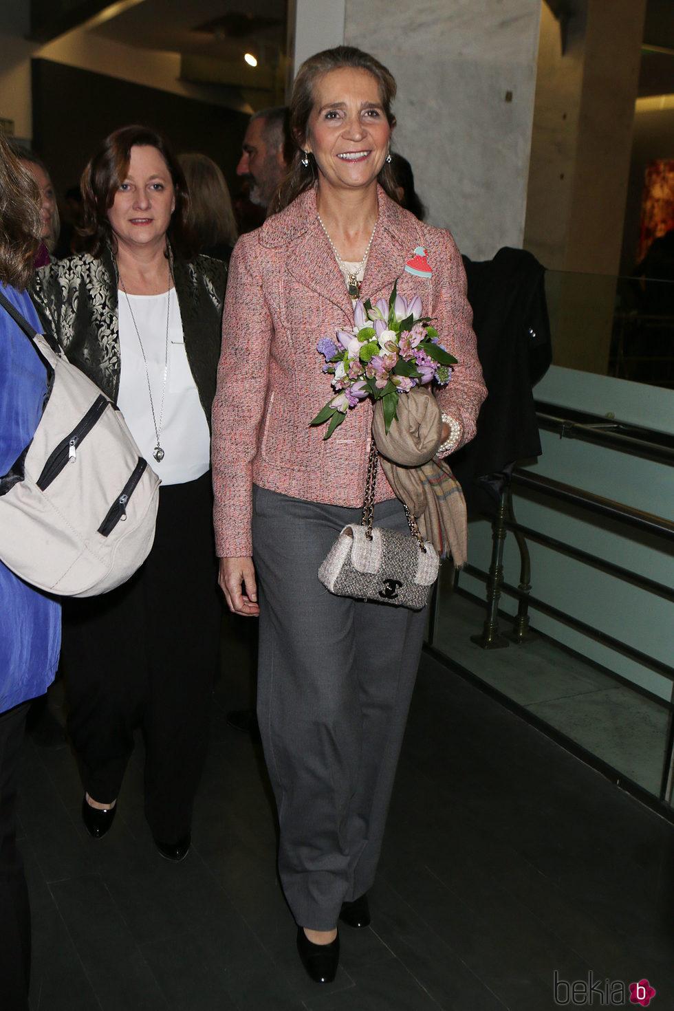 La Infanta Elena en la inauguración de la exposición 'Miradas de Madrid'