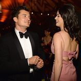 Orlando Bloom y Katy Perry asisten a Netflix Golden Globe Party