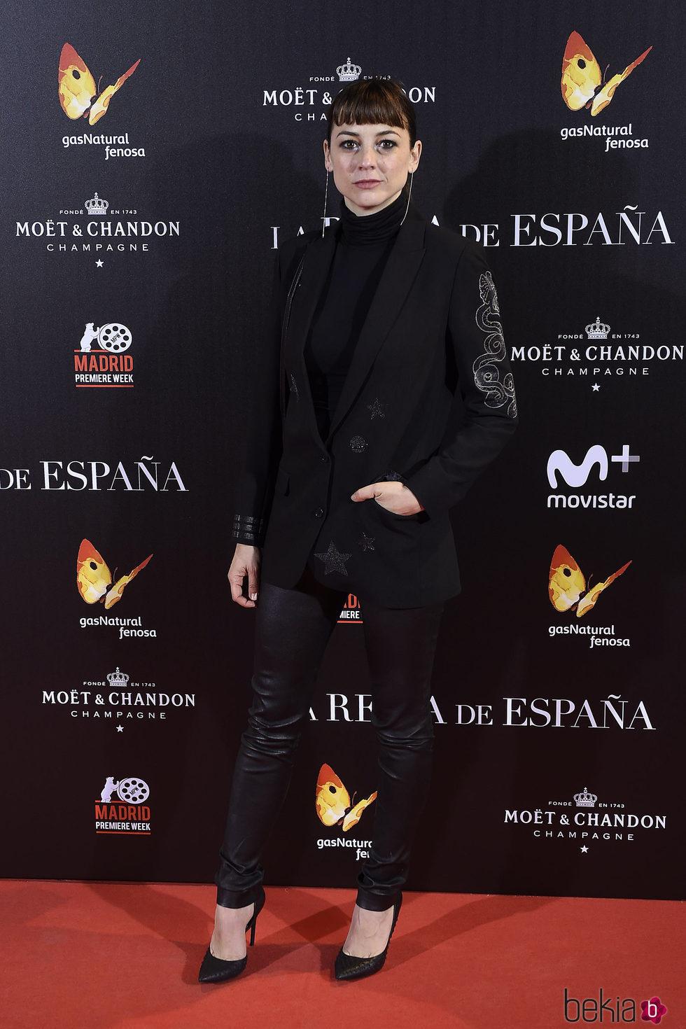 Leonor Watling en la premiere de 'La Reina de España' en Madrid