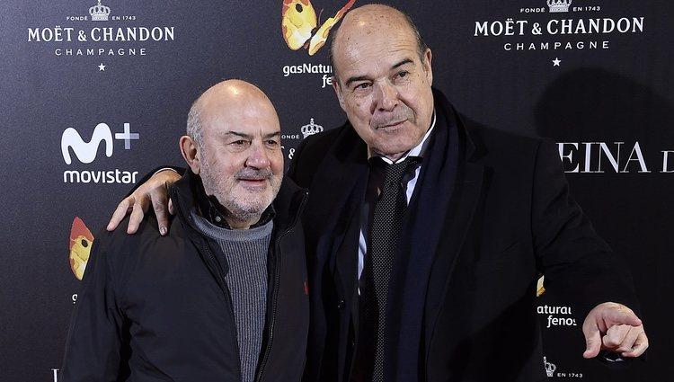 Antonio Resines y Jesús Bonilla en la premiere de 'La Reina de España' en Madrid
