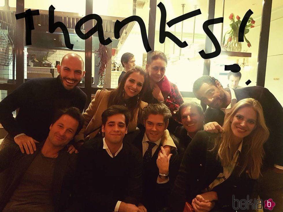 Paula Echevarría celebra Acción de Gracias con unos amigos