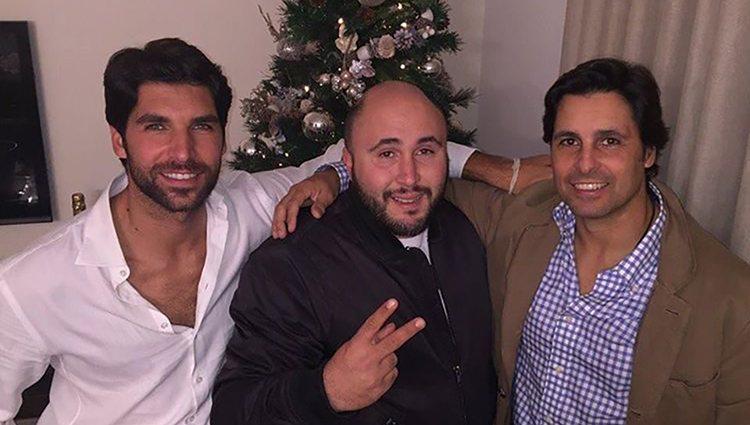 Cayetano, Kiko y Fran Rivera celebrando la Navidad