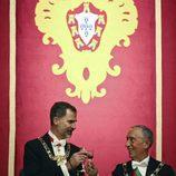 El Rey Felipe brinda con Marcelo Rebelo de Sousa en una cena de gala en Guimaraes