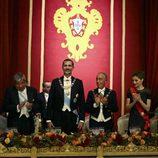 Los Reyes Felipe y Letizia con Marcelo Rebelo de Sousa en una cena de gala en Guimaraes