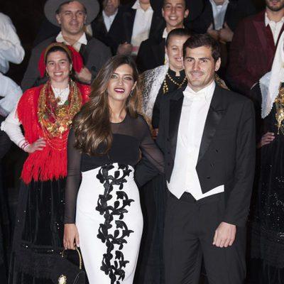 Iker Casillas y Sara Carbonero en una cena de gala con los Reyes Felipe y Letizia en Guimaraes