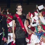 La Reina Letizia en una cena de gala en Guimaraes con motivo de su Visita de Estado a Portugal