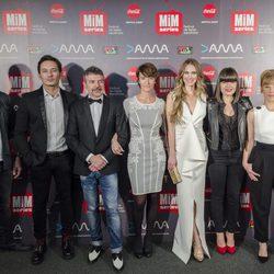 Miembros del equipo de 'La que se avecina' en los Premios MiM 2016