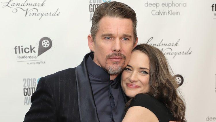 Winona Ryder y Ethan Hawke durante los Premios Gotham 2016