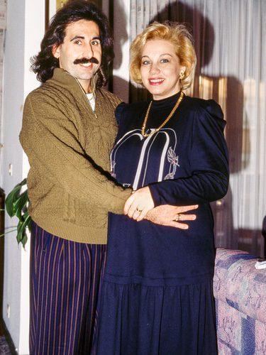 Juan Miguel y Karina, cuando estaban casados