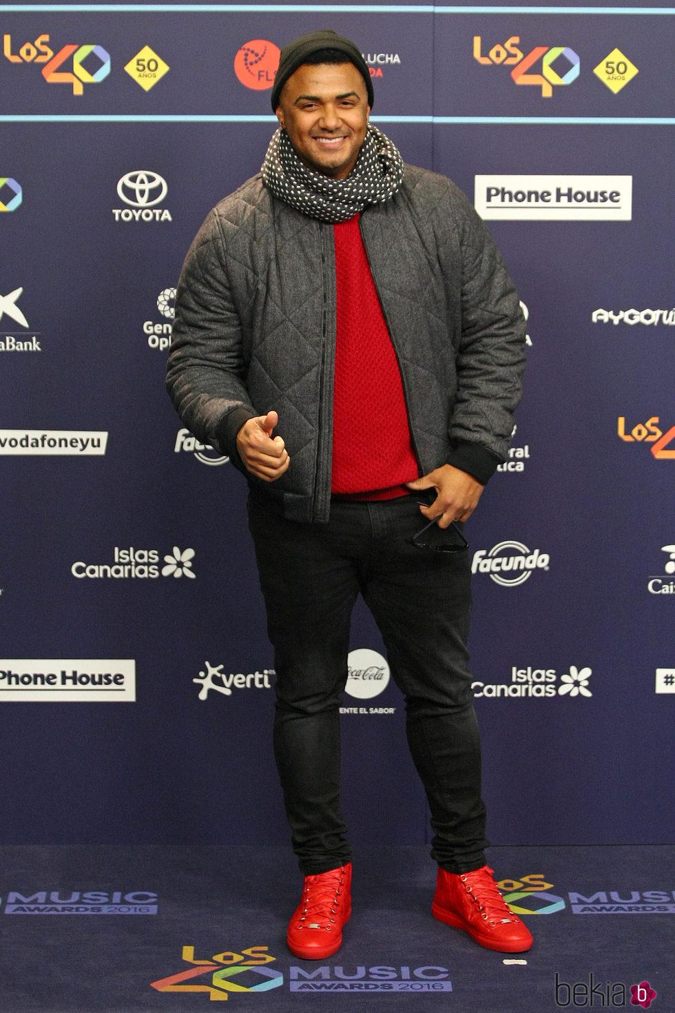 Henry Mendez en Los40 Music Awards 2016