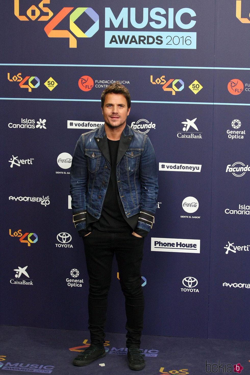Dani Martín en Los40 Music Awards 2016