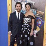 Matthew McConaughey y Camila Alves en la premiere de 'Sing'