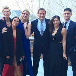 Lea Michele en la boda de Becca Tobin