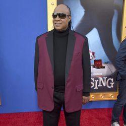 Stevie Wonder en la premiere de 'Sing'