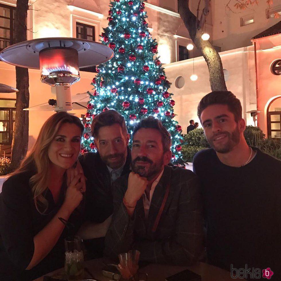 Carlota Corredera junto a Pelayo Díaz y David Valdeperas