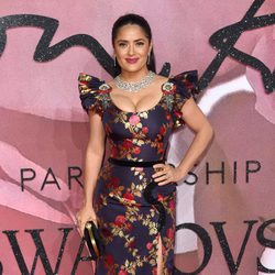 Salma Hayek en los British Fashion Awards 2016