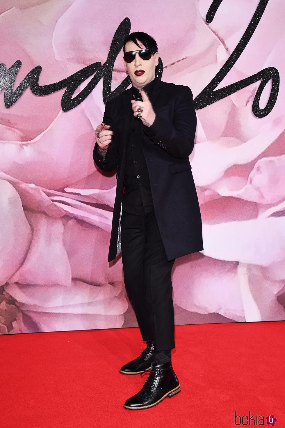 Marilyn Manson en los British Fashion Awards 2016