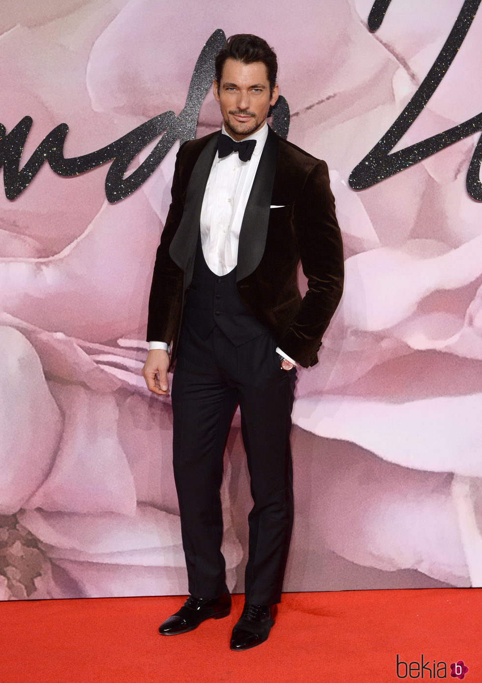 David Gandy en los British Fashion Awards 2016